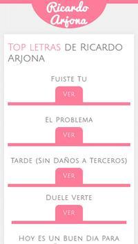 Letras de Ricardo Arjona screenshot 2