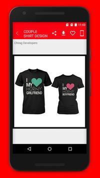 abc6d42d7f Couple T-Shirt Design الملصق Couple T-Shirt Design تصوير الشاشة 1 ...