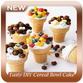 Tasty DIY Cereal Bowl Cake Dessert icon