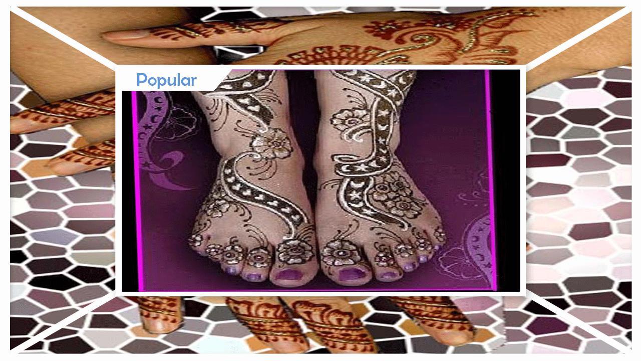 Cool Glitter Mehndi Design poster