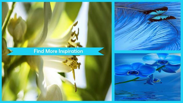 Luminous Flower Wallpaper poster