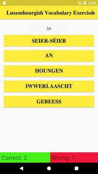 Luxembourgish Vocabulary poster