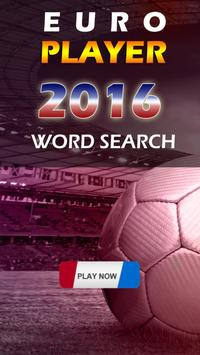EURO 2016 PLAYER SEARCH WORD poster