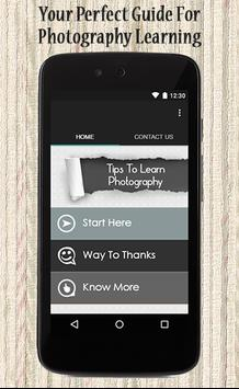 Tips To Learn Photography poster