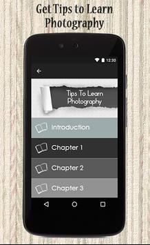 Tips To Learn Photography apk screenshot