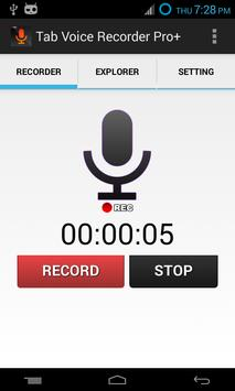 Tab Voice Recorder Pro+ poster