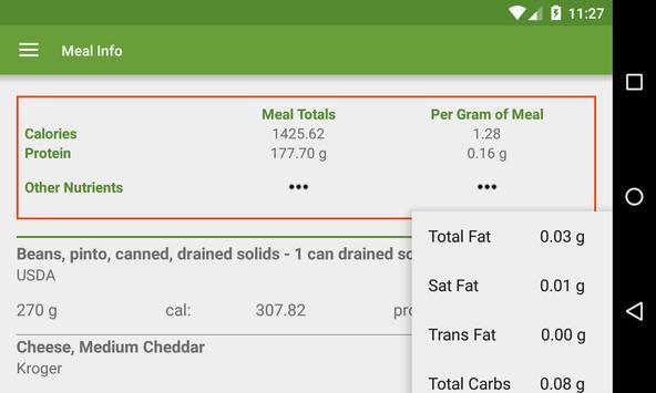 MixedUp Meal Calculator apk screenshot