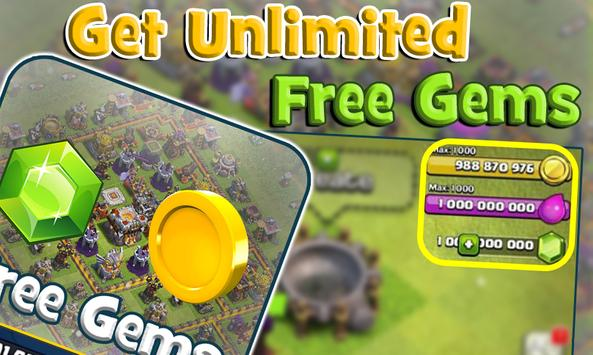 Unlimited Gems for COC Prank poster
