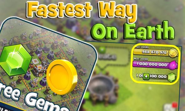 Unlimited Gems for COC Prank apk screenshot