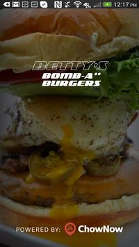 Betty's Bombass Burgers poster
