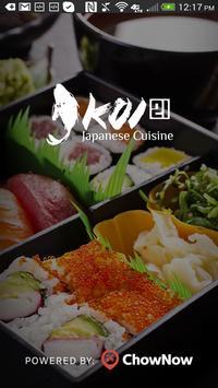 Koi 21 Japanese Cuisine poster