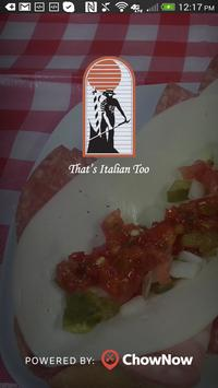 That's Italian Too poster
