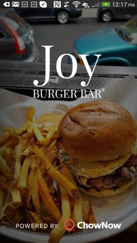 Joy Burger Bar NY poster