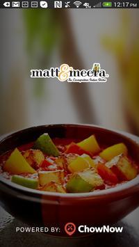 Matt & Meera Restaurant poster