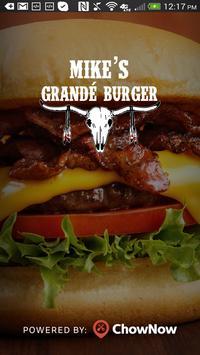 Mike's Grande Burger poster
