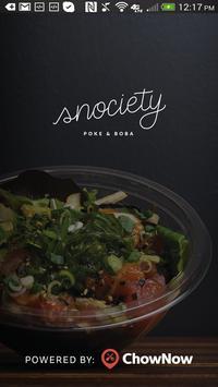 Snociety Urban Eatery poster