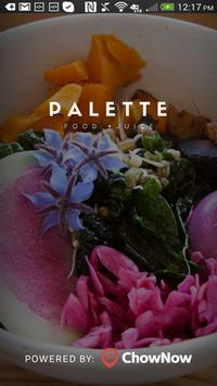 Palette Food and Juice poster