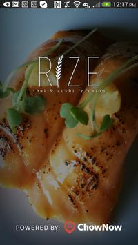 Rize Thai Sushi poster