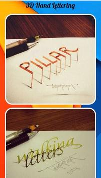 3D Hand Lettering poster