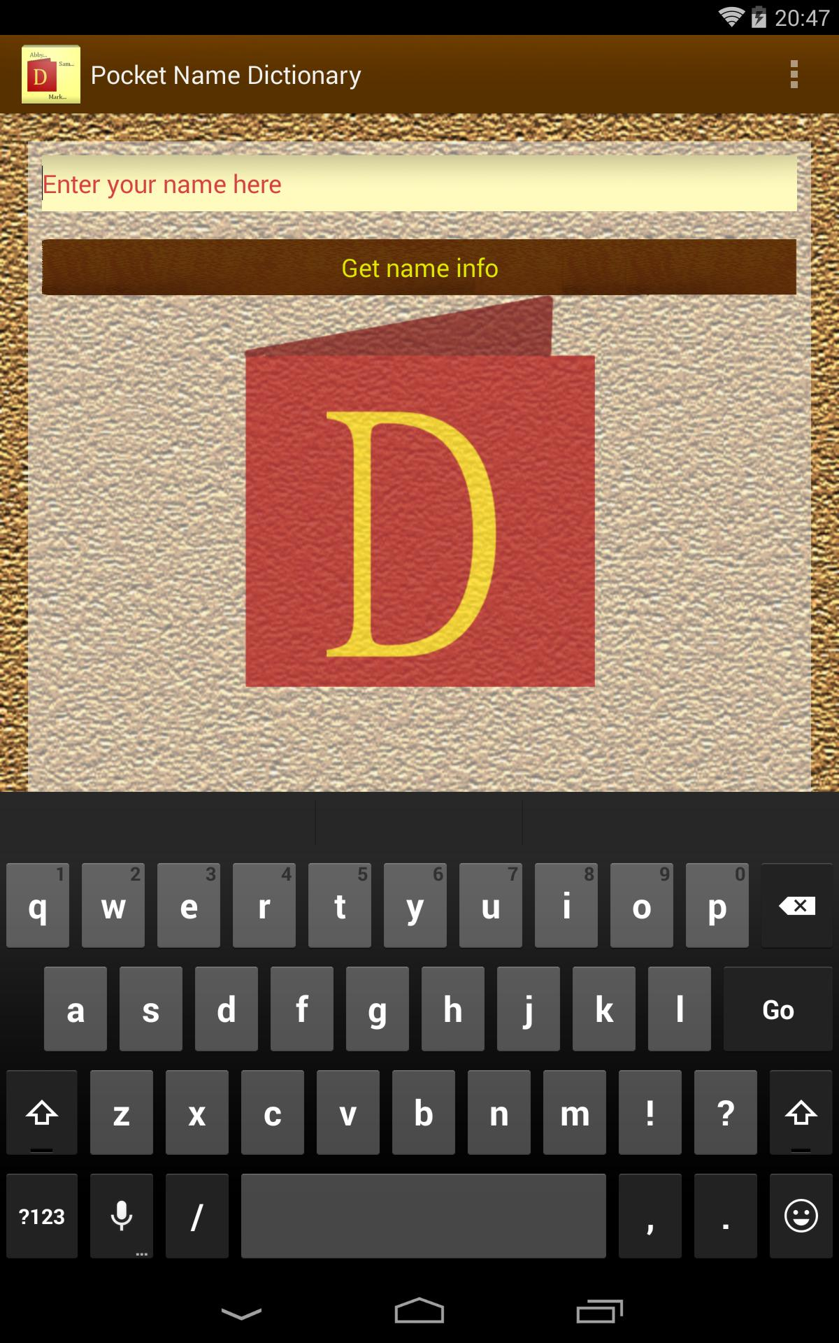 Pocket Name Dictionary for Android - APK Download