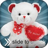 teddy bear slider lock icon
