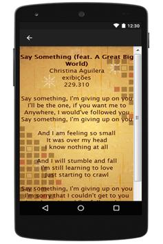 Christina Aguilera Lyrics apk screenshot