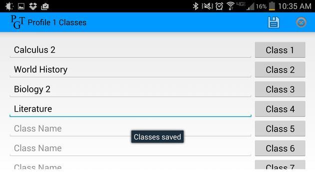 Parent Grade Tracker Lite screenshot 1