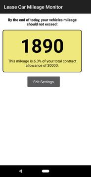 Lease Car Mileage Monitor screenshot 1