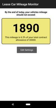 Lease Car Mileage Monitor screenshot 1