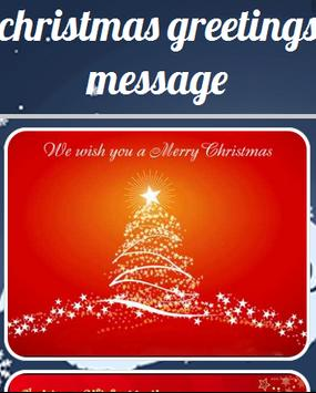 Christmas Greetings Message poster