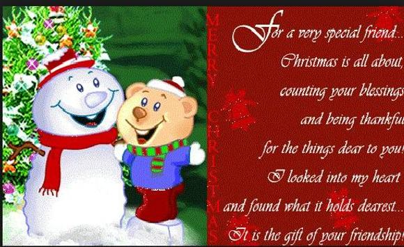 Christmas Quotes for Friends poster