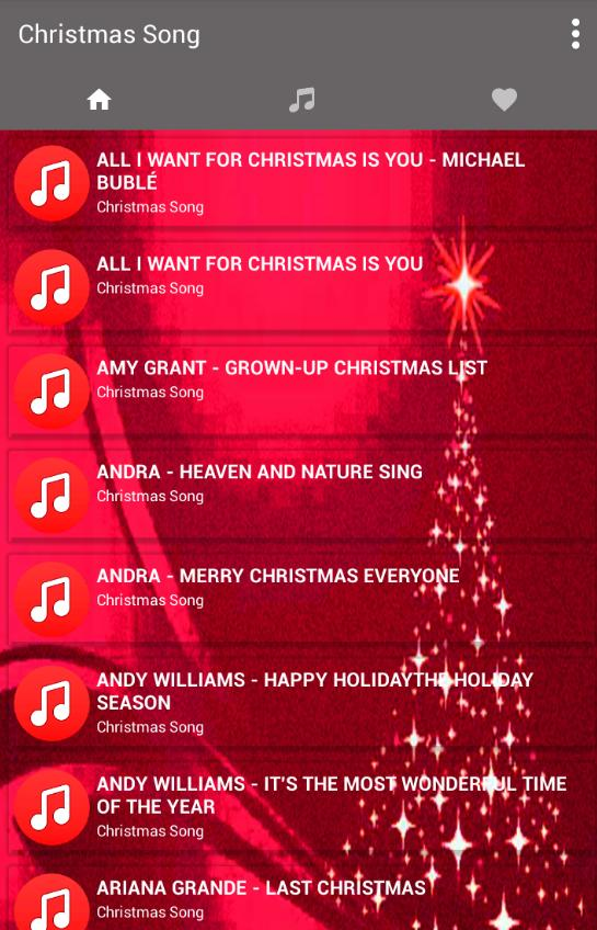 All I Want For Christmas Is You Lyrics.Christmas Songs Best Music Lyrics New For Android Apk