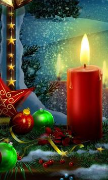 christmas candle wallpaper poster