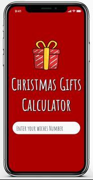 Christmas Gifts Calculator screenshot 1