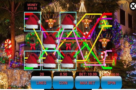 Texas HoldEm Slot Machine - Christmas Edition screenshot 2
