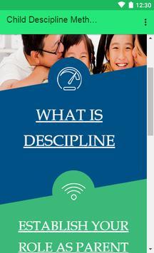 Child Descipline methodes poster