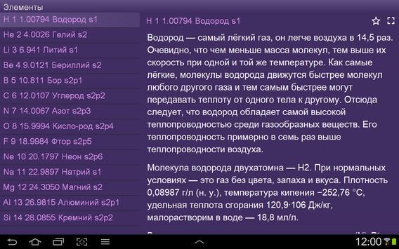 Таблица Менделеева apk screenshot