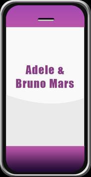Lagu Adele dan Bruno Mars apk screenshot