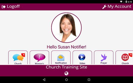 Church Notifier apk screenshot
