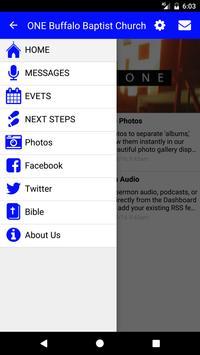 ONE Buffalo Baptist Church apk screenshot