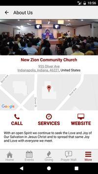 New Zion Community Church apk screenshot