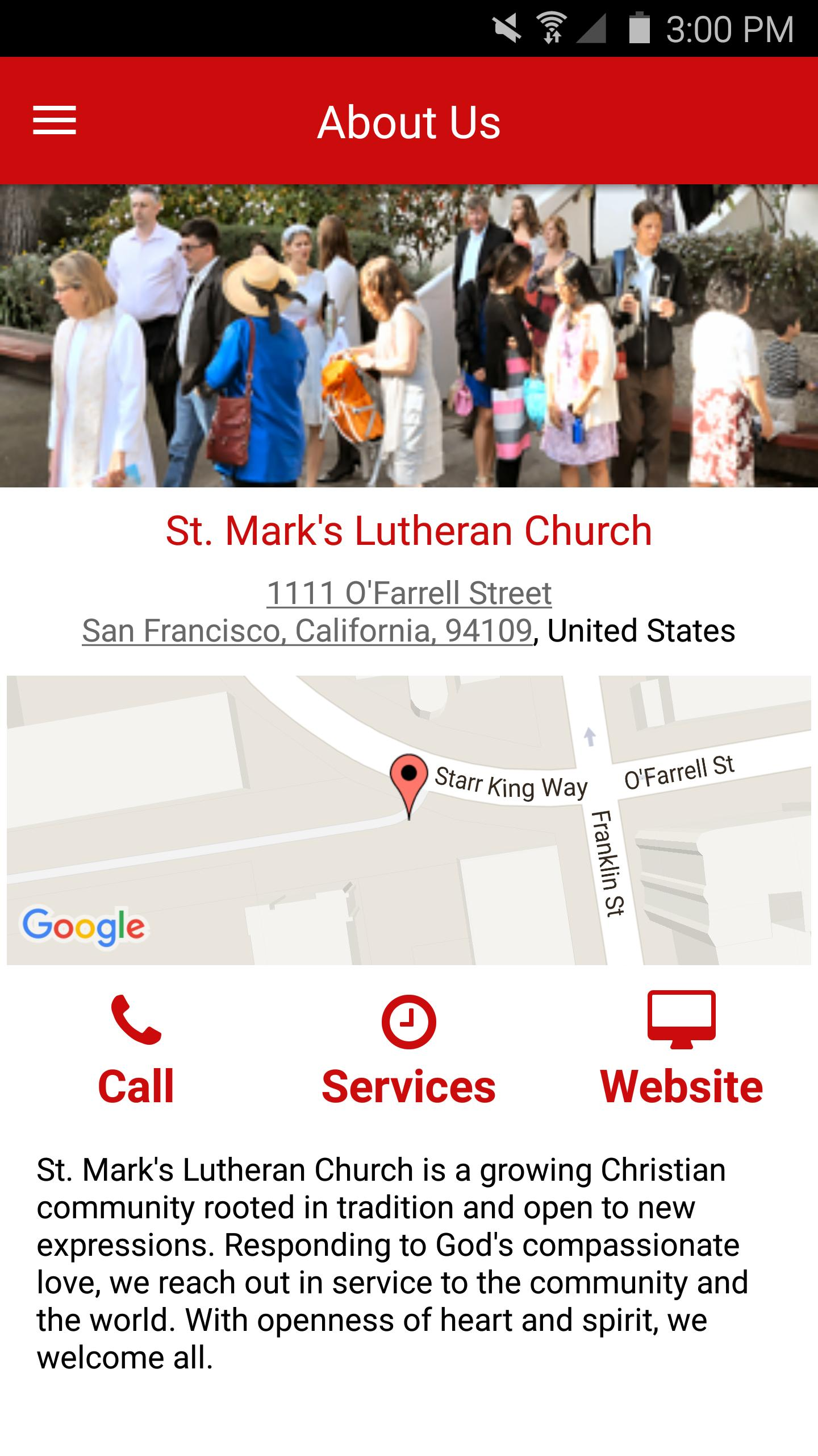 St. Mark's Lutheran Church poster