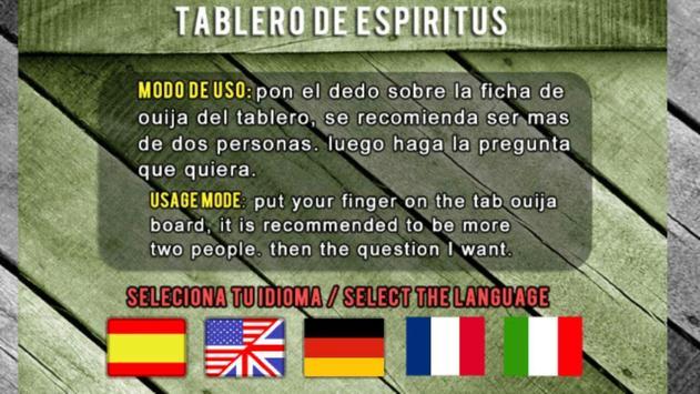 Guija Board Table Contact Espiritus Paranormal screenshot 1