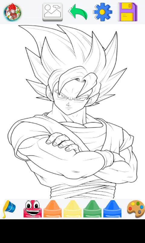 Goku Super Saiyan Para Colorear For Android Apk Download