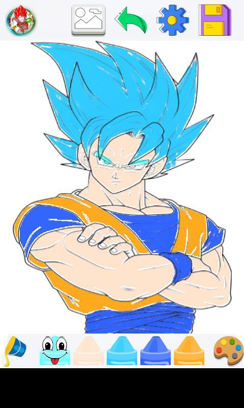 Goku Super Saiyan Para Colorear For Android Apk Download