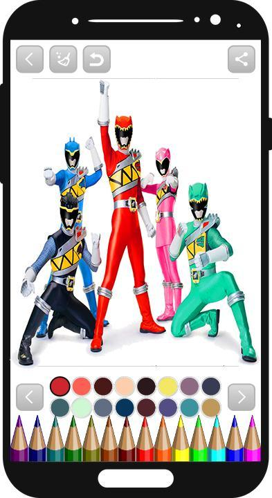 power rangers coloring book für Android - APK herunterladen
