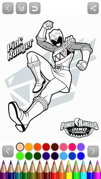 power rangers coloring poster