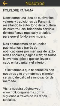 Folklore panamá apk screenshot