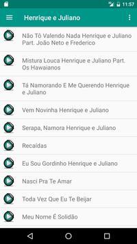 Henrique e Juliano Músicas apk screenshot