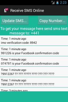 Receive SMS Online screenshot 2